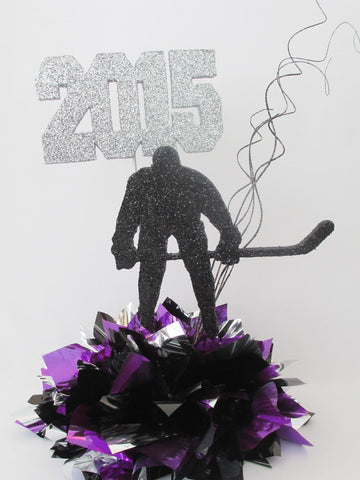 Hockey Player sports or graduation centerpiece