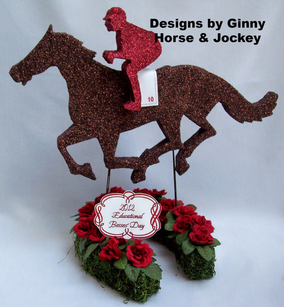 Horse & Jockey by Designs by Ginny