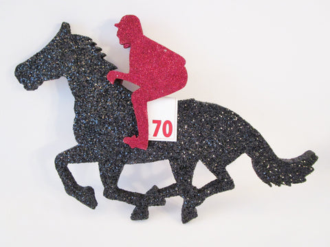 Horse and Jockey cutout - Designs by Ginny