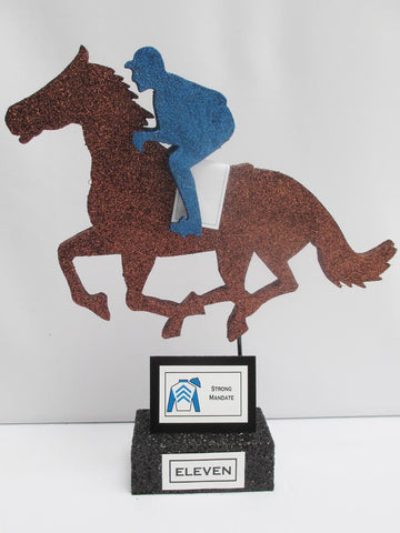 Horse and Jockey on base centerpiece