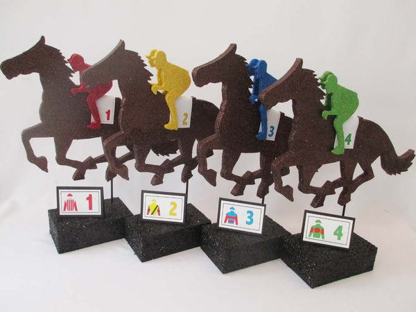 Horse and Jockey Centerpiece -Designs by Ginny