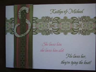 Custom Paisley Wedding Invite