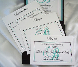 Pocketfold Wedding Invite accessory cards - Designs by Ginny
