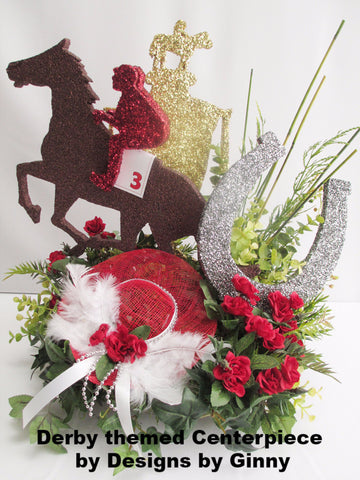 Kentucky Derby themed centerpiece by Designs by Ginny