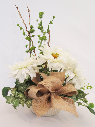 Silk Daisy centerpiece - Designs by Ginny