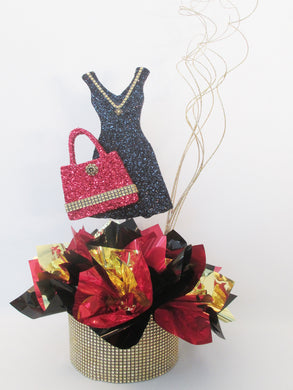Styrofoam little black dress & purse centerpiece - Designs by Ginny