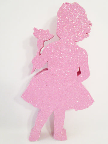 Little Girl with Flower Cutout