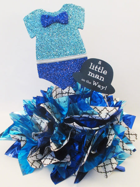 Onesie Cutout Centerpiece-Boy (Little Man)