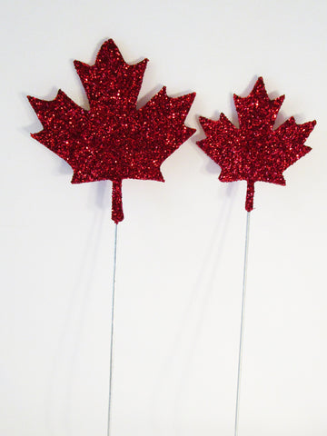 Canadian maple leaf styrofoam cutout for centerpieces