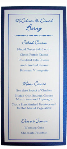 Layered Menu Card