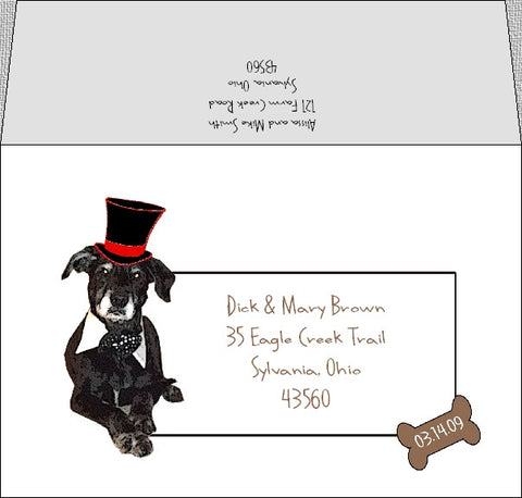 Dog themed envelope