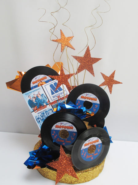 Motown Centerpiece On Faux Cake Base Designs By Ginny