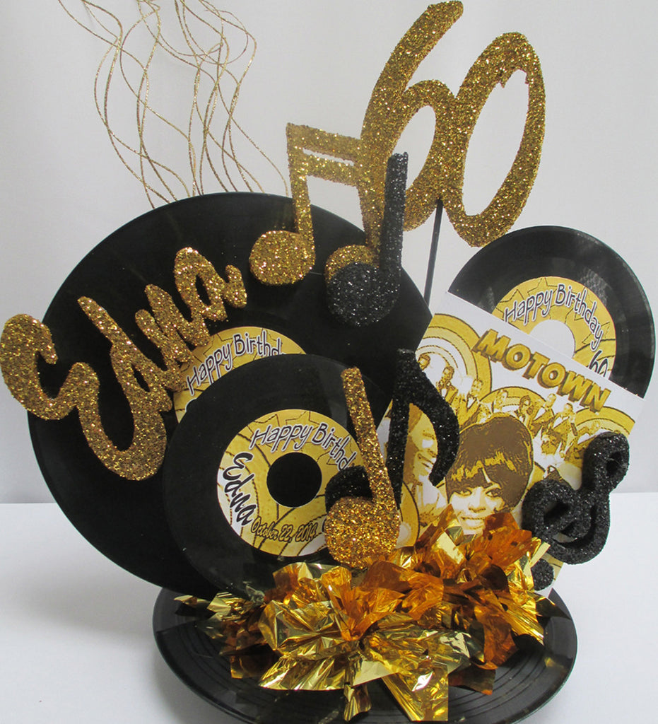 Motown Record Centerpiece Designs By Ginny