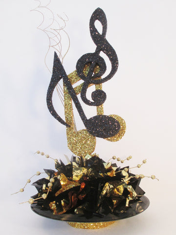 Musical Notes on Record Centerpiece