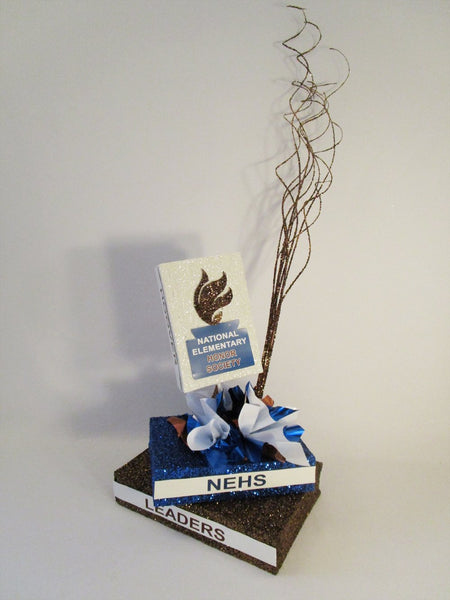 Stack of books centerpiece - Designs by Ginny
