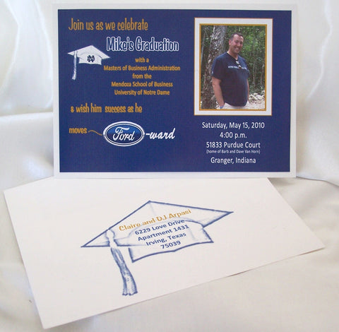 Graduation Invite & matching envelope