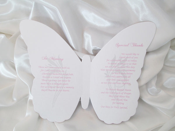 Pink, Silver & Rhinestone Butterfly Program