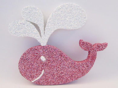 Pink and white whale cutout - Designs by Ginny