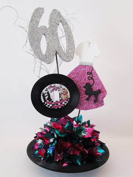 60th-birthday-poodle-shirt-centerpiece - Designs by Ginny