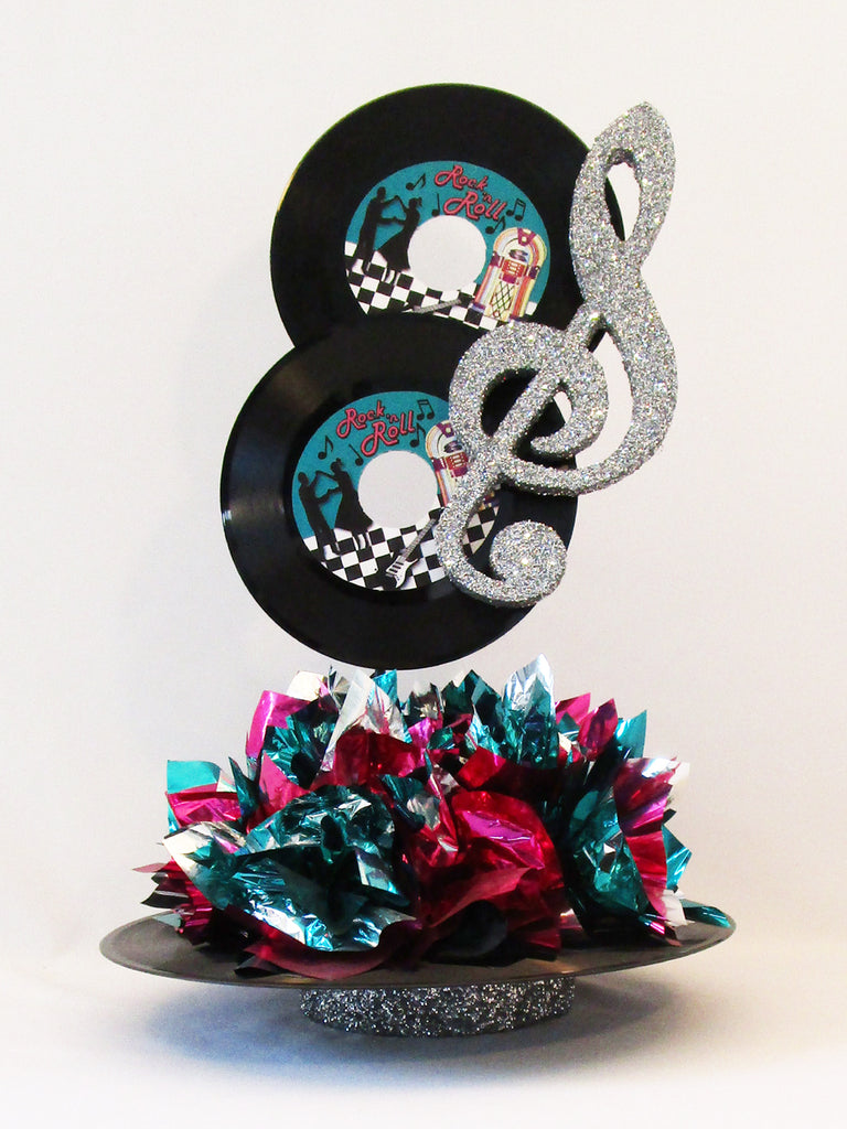 Rock N Roll Record Centerpiece Designs By Ginny
