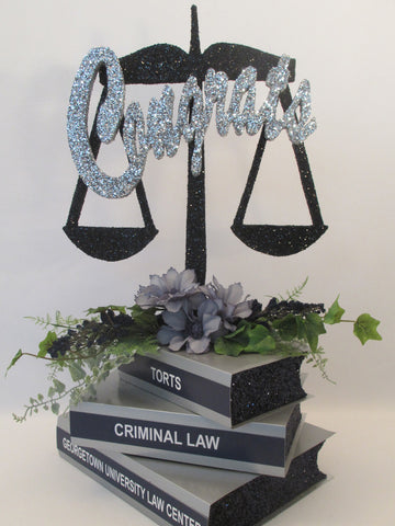 Scales of Justice Graduation Centerpiece