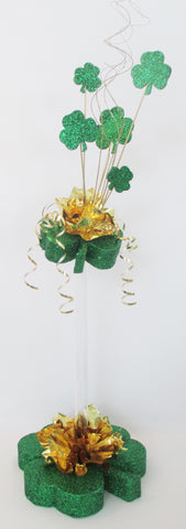 2 Tier (tall)  Shamrock Irish Centerpiece