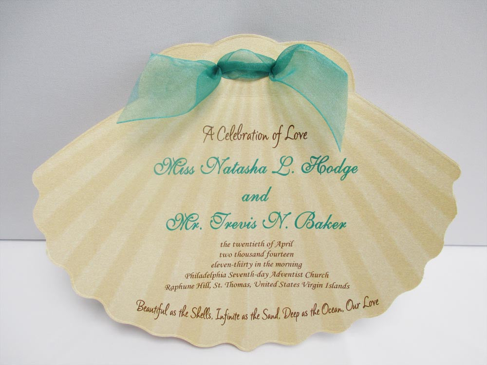 Shell Cutout Wedding Program