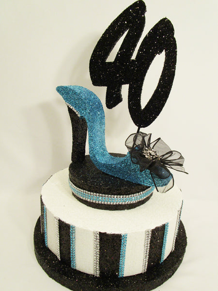 Stripped Faux Cake Centerpiece Base