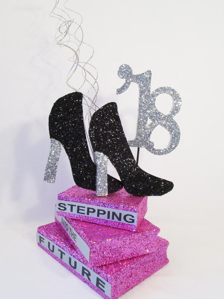 Graduation Centerpiece with heels - Designs by Ginny
