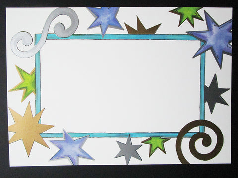 Stars and Swirls Border Invite