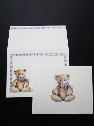 Teddy Bear notecards - Designs by Ginny