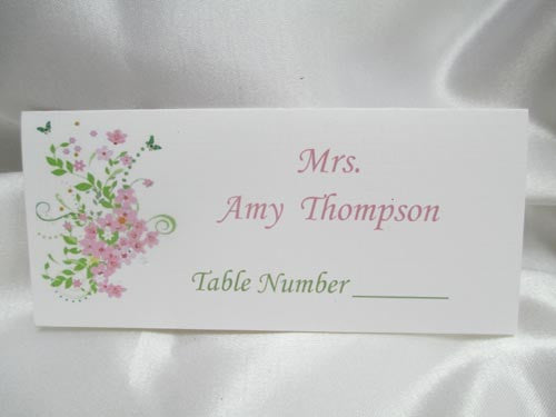 Place-card/floral