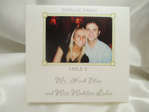 Place-card with picture