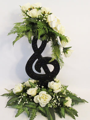 Treble Clef Floral Table Centerpiece - Designs by Ginny