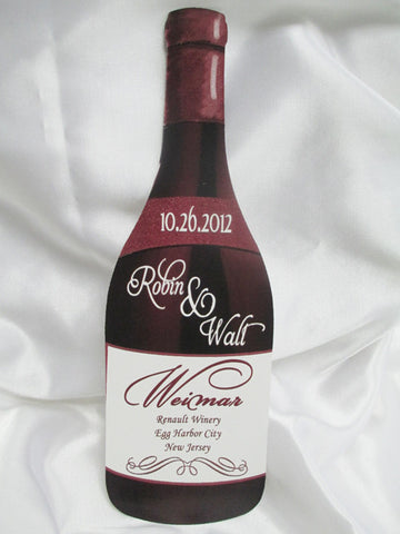 Wine bottle shaped wedding program - Designs by Ginny