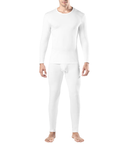 Lapasa Men's Thermal Set Fleece Lined STAY WARM Base Layer Top & Bottom Long John Ski Underwear M11