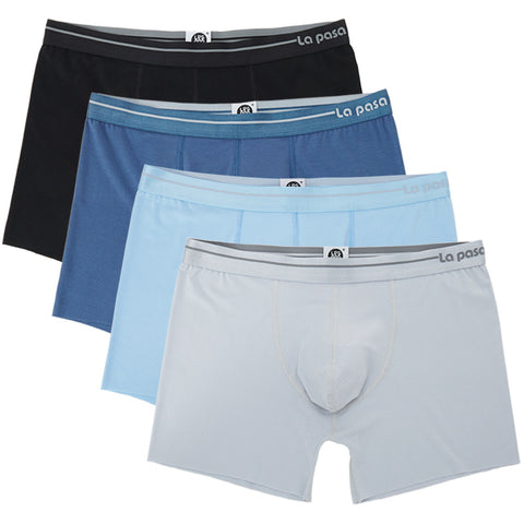 Lapasa Men's 4-Pack Pouch Trunk Micro Modal Low Rise Boxer Brief