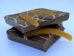 ARTISAN: Slab of Dairy Free Milk Chocolate with Valencian Orange