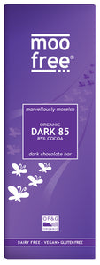 free-from 85% organic dark chocolate bar