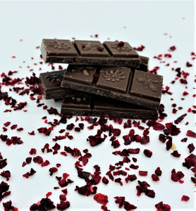 dairy free chocolate bar with cherries