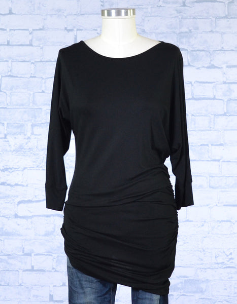 Asymmetrical Ruched Tunic