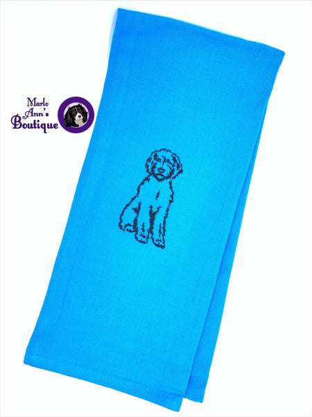 Doodle Embroidered Decorative Towel