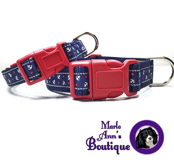 Come Sail Away Dog Collar