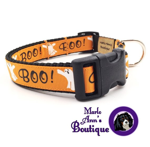 Boo! Halloween Dog Collar