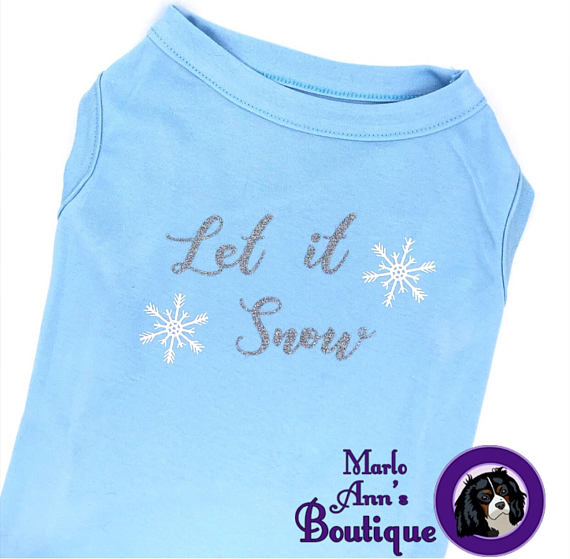 Let it Snow Pup Tee