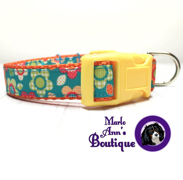 Mod May Flowers Dog Collar