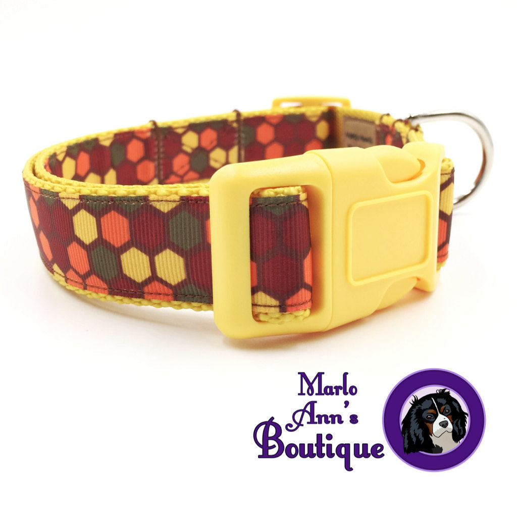 Autumn Honeycomb Dog Collar