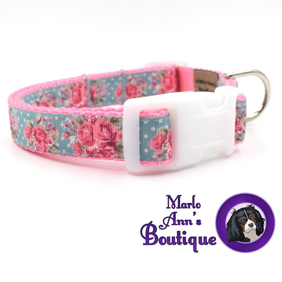 Rose Garden Dog Collar