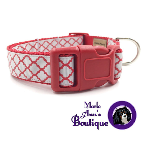 Scarlet & Gray Dog Collar