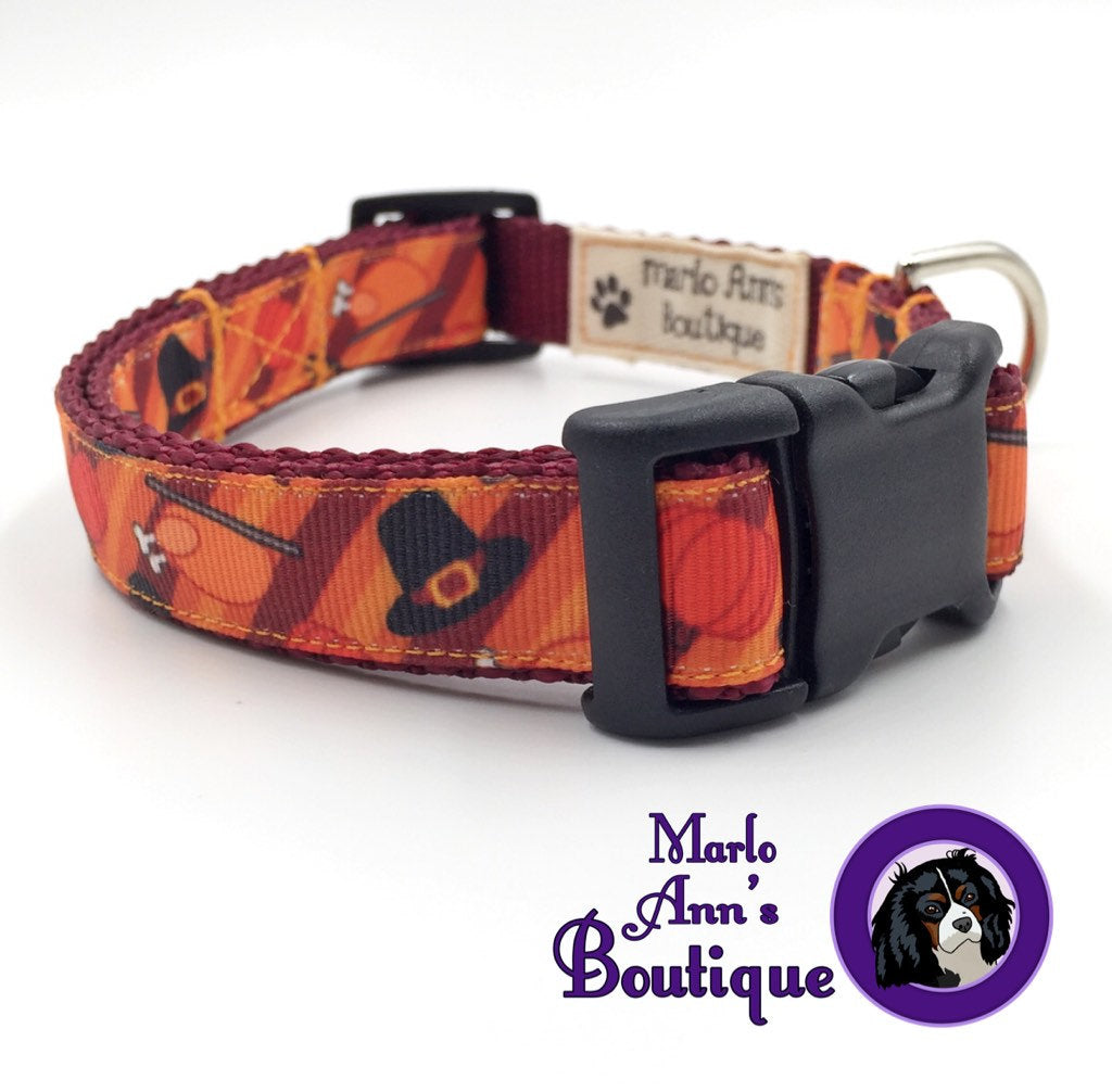 Thanksgiving Day Dog Collar